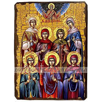 Икона Жены-мироносицы ,икона на дереве 130х170 мм