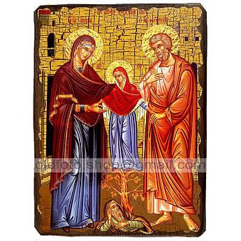 Икона Иоаким и Анна Святые праведные ,икона на дереве 130х170 мм