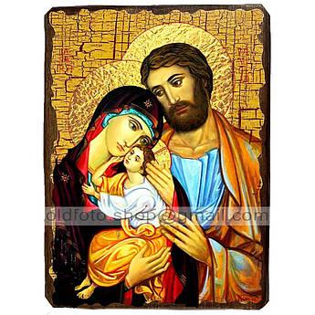 Икона Святое семейство ,икона на дереве 130х170 мм