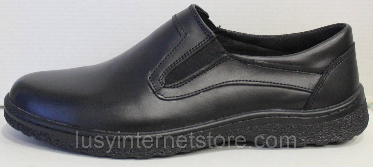 Туфли кожаные черные мужские от производителя модель ЮР201