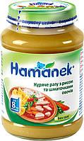 Пюре Hamanek Куряче рагу з рисом і овочами 190 г (23606071760063)