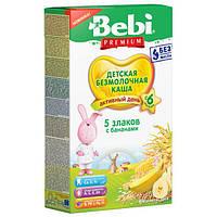 Безмолочна каша Bebi 5 злаків з бананом 200 г (1008807)
