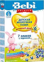 Молочна каша Bebi 7 злаків з чорницею 200 г (1008821)