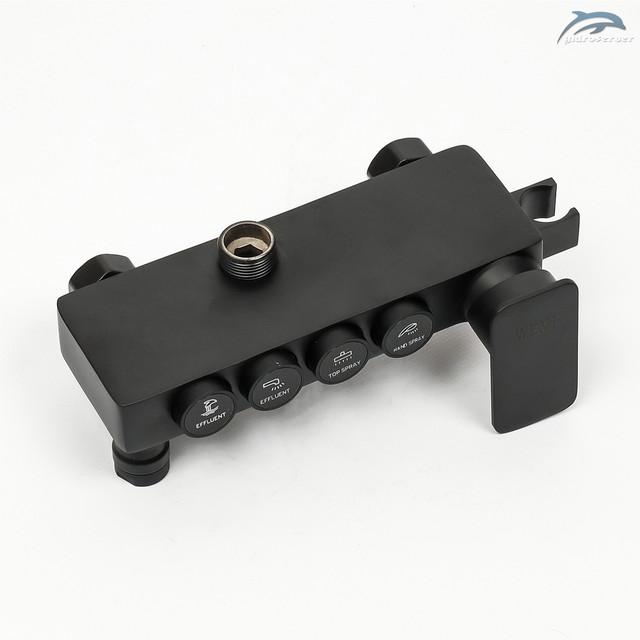 Смеситель для душевой колонны WEMI SB-09 с кнопочным переключателем на 4 режима работы.