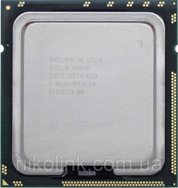 Процессор Intel Xeon W3550 Quad Core 3.33GHz/8Mb/4.8 GT/s, s1366 (BX80601W3550), Tray, б/у
