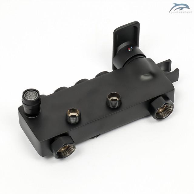 Настенный смеситель для душевой колонны WEMI SB-09 выполнен из сантехнической латуни марки H59.