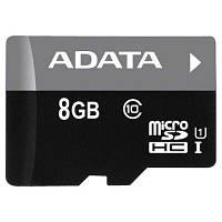 Карта памяти ADATA 8GB microSD class 10 UHS-I (AUSDH8GUICL10-R)