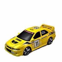Автомодель Firelap IW04M Mitsubishi Evo 4WD на радиоуправлении, масштаб 1к28 желтый SKL17-139678