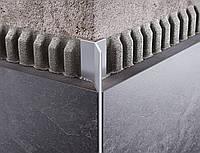 Профиль для плитки алюминиевый Мерседес 11мм длина 2,7м