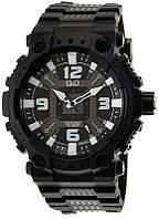 Q&Q GW82J черные мужские классические часы