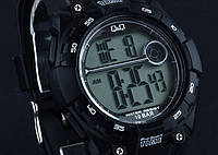 Q&Q M121 черные мужские спортивные часы