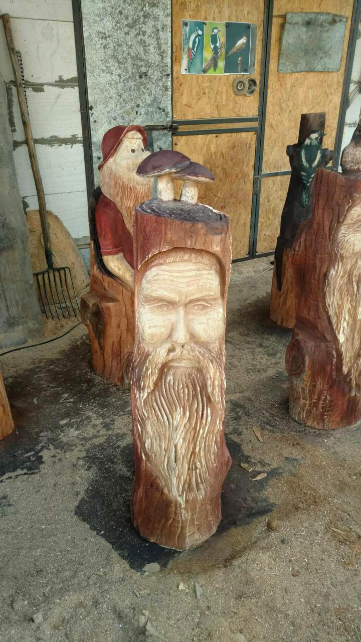 Скульптуры с дерева. Скульптура(можно исп как упора на скамью). Дизайнерская Ручная Работа с Дуба на заказ.