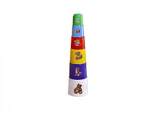 """Іграшка пірамідка """"Пасочки ТехноК"""", 2032 (45шт) 35×9×9 см"""