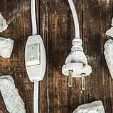 Соляной светильник Прямоугольник в дереве Цветы, фото 4