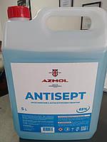 Санитайзер антисептик для рук и поверхностей 5 литров ANTISEPT дезинфицирующее средство для рук - дезинфектант, фото 1