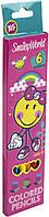 "Олівці кольор. 6 кольор. ""Yes"" №290399 Smiley World(pink)(24), фото 1"