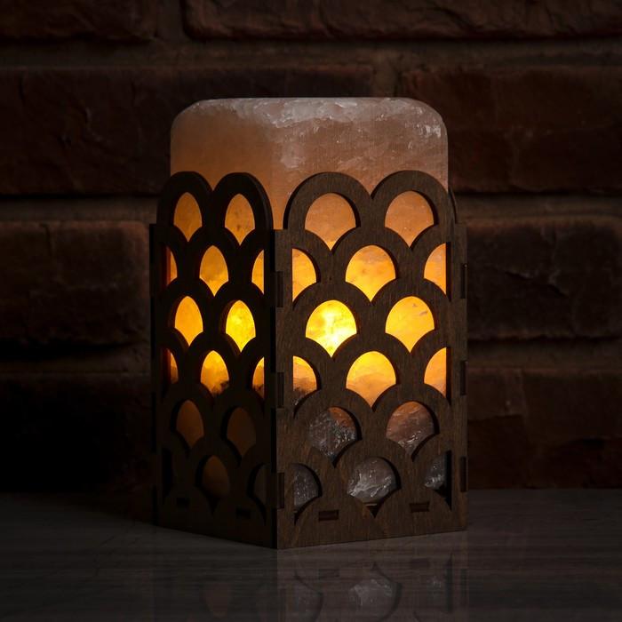 Соляной светильник камин волны большой