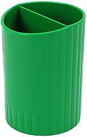 """Підставка для ручок """"Economix"""" №E81982-04, пластик.,2відд.,зел.(12)"""