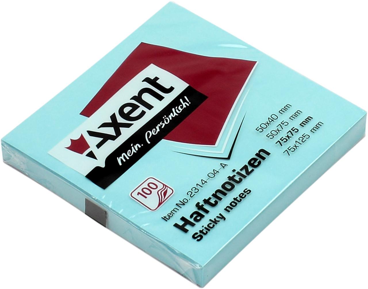 """Блок/заст. липк. куля 75х75мм 100арк. сін. """"Axent"""" №2314-04(12)"""