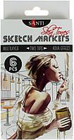 """Набір маркерів """"Santi sketch"""" (6шт) №390568 Skin Tones, фото 1"""