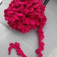 Турецкая фантазийная пряжа Puffy Alize Вишневого цвета 107