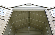 Сарай пластиковый Storemaxx 209x206x234 см слоновая кость, коричневая крыша, фото 3
