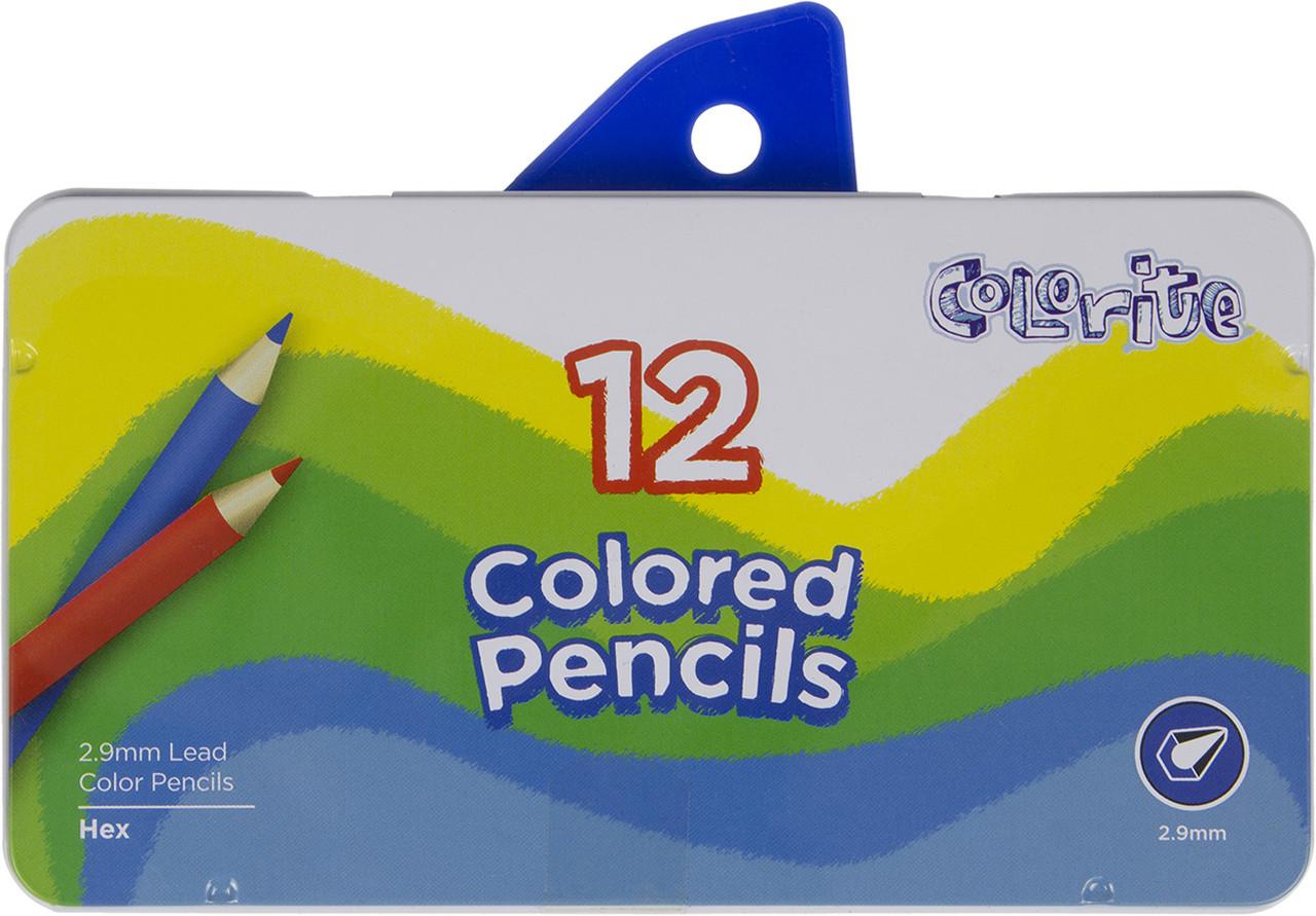 """Олівці кольор. 12 кольор. """"Marco"""" №1100-12TN метал. кор-ка(12)(72)"""
