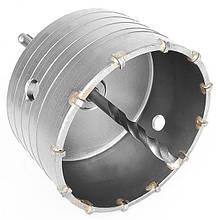 Комплект: свердло корончатое по бетону 105мм + перехідник SDS Plus 100мм INTERTOOL SD-7105