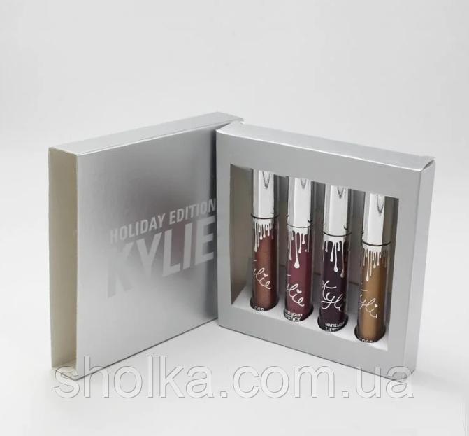 Набор помад Kylie Holiday Edition Lip Kit 4 шт
