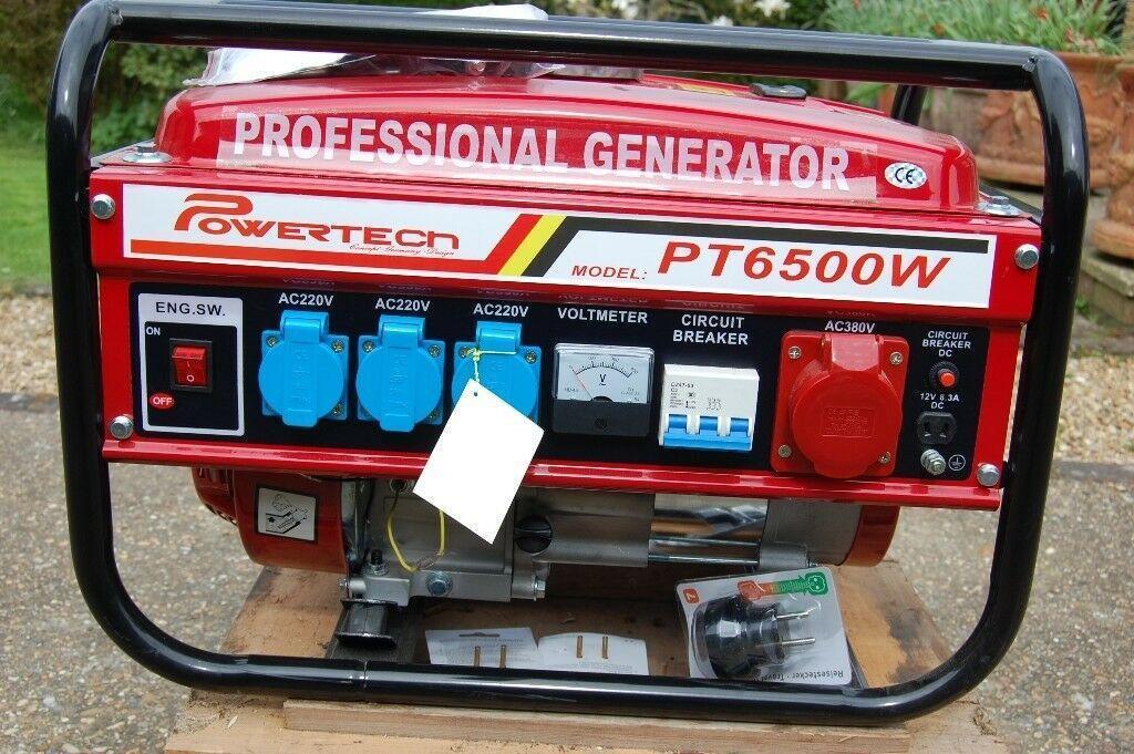 Генератор бензиновый Powertech Germany PT6500WE 4.5 Kw
