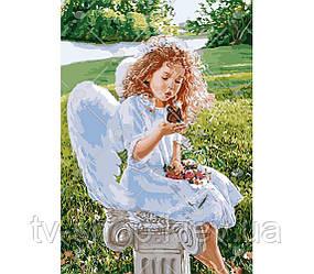 """Картина по номерам """"Дыхание ангела"""" Идейка  ,50х40 см"""