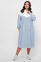 Спортивное удобное платье для прогулок, отдыха или дома размер 52-64, фото 2