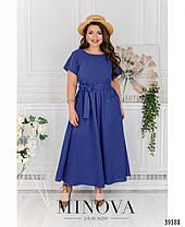 Симпатичное батальное платье  с расклешенным подолом,  размер  52-54, 64-66, фото 3