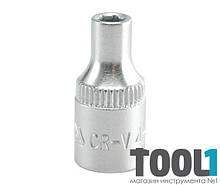 """Головка торцевая шестигранная 1/4"""" 4 мм Yato YT-1401"""