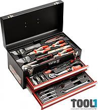 Набор инструментов в ящике с выдвижными полками 80 шт Yato YT-38951