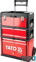 Инструментальная тележка для СТО на колёсах с выдвижной ручкой Yato YT-09102