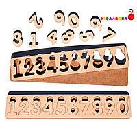 Деревянная Заготовка для Бизиборда Цифры Рамка Вкладыш Набор Цифр 0-9 комплект дерев'яні цифри для бізіборда