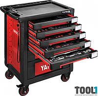 Инструментальная тележка на колёсах с выдвижными ящиками и 165 инструментом Yato YT-55293