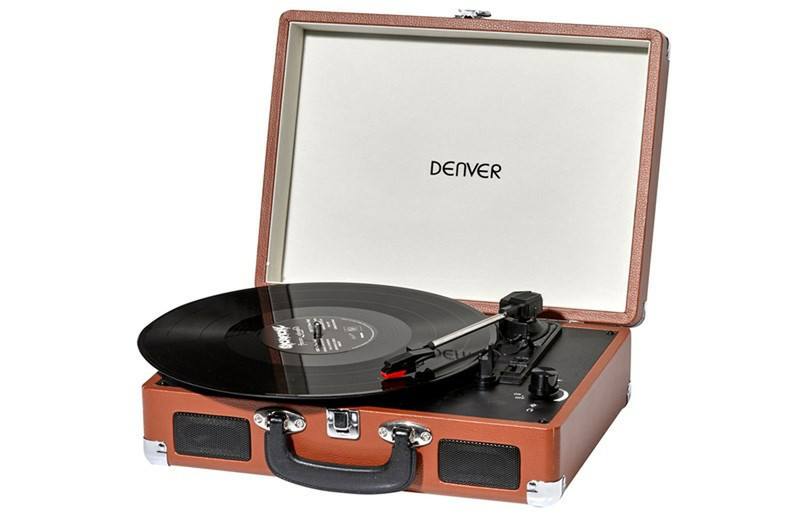 Проигрыватель виниловых дисков denver vpl-120