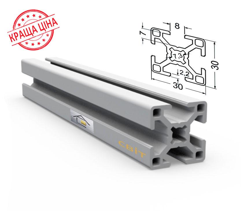 Алюминиевый конструкционный станочный 30х30 без покрытия