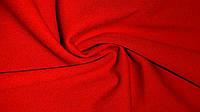 Ткань нежный креп-дайвинг красного цвета