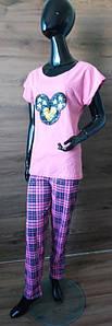 Пижама женская футболка и штаны с нашивкой из пайеток Мини 42-52 р