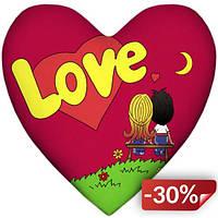 Подушка Love is сердце Red (N123753)
