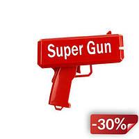 Пистолет стреляющий деньгами Super Gun Красный (hj123473)