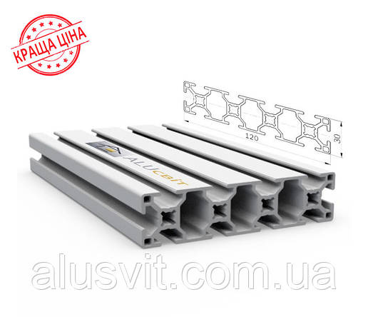 Алюминиевый конструкционный станочный 120х30 анодированный, фото 2
