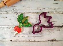3D формочка для печива - Редиска | Вирубка для печива на замовлення