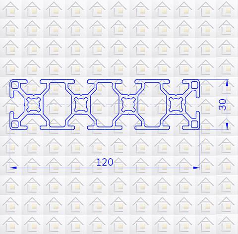 Алюминиевый конструкционный станочный 120х30 без покрытия, фото 2