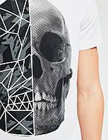 Футболка белая с принтом черепа DEXT SKULL 04  Diverse