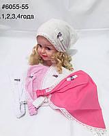 Стильна дитяча панамка-хусточка на дівчинку 1-4 роки