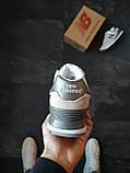Кросівки жіночі New Balance 574 Сірі з синім, фото 3